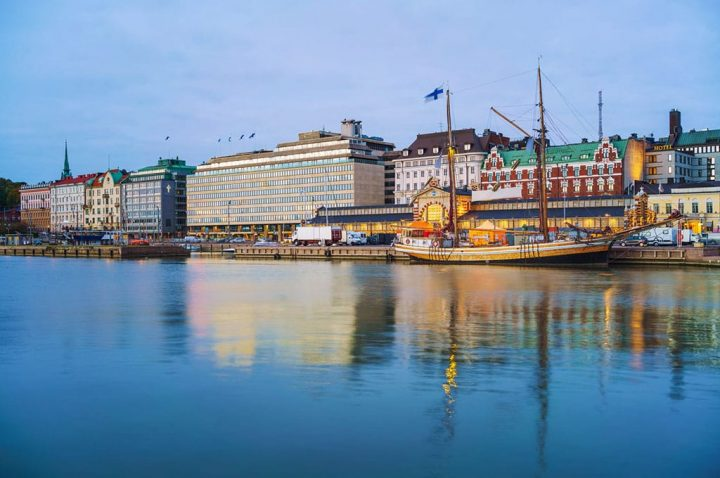 veduta di città in Finlandia